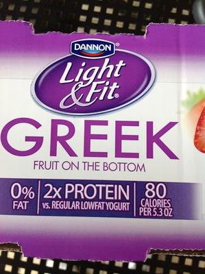 Greek Yogurt Light & Fit Strawberry