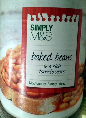 Simply M&S - Baked Beans in a rich tomato sauce