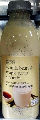 Vanilla bean & maple syrup smoothie