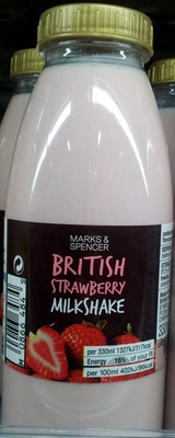 British Strawberry Milkshake