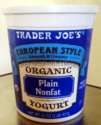 European Style Organic Plain Nonfat Yogurt