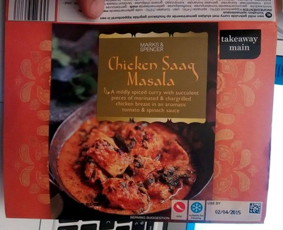 Chicken Saaq Masala