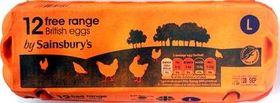 12 free range British eggs