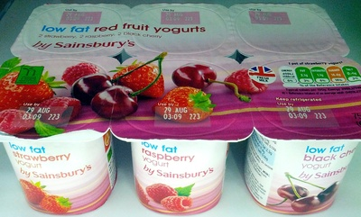 Low Fat Red Fruits Yogurts