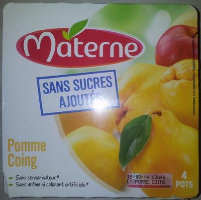 Pomme Coing sans sucres ajoutés