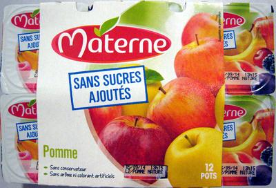 Pomme nature sans sucres ajoutés Materne