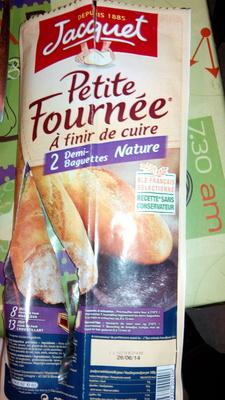 Petite Fournée 2 Demi-Baguettes nature à finir de cuire