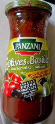 Olives et basilic aux tomates fraîches