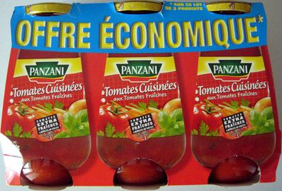 Sauce tomates cuisinées aux tomates fraîches (lot de 3 x 400 g) Panzani