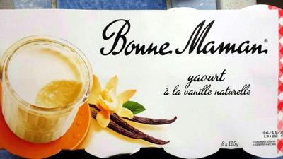 Yaourt à la vanille naturelle