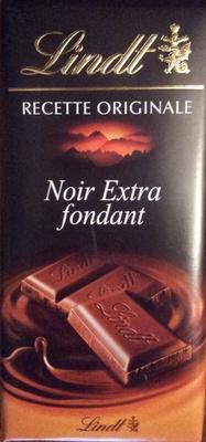 Chocolat Lindt Noir Extra fondant. 52% cacao