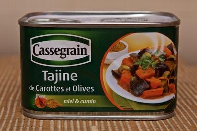 Tajine de Carottes et Olives - miel et cumin