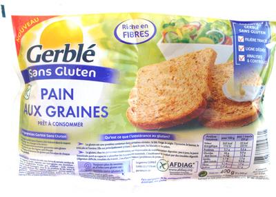 combien de calories dans pain aux graines sans gluten gerbl combien de calories. Black Bedroom Furniture Sets. Home Design Ideas