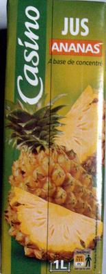 Jus Ananas à base de concentré 1 litre