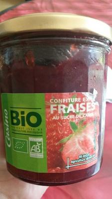 Confiture extra fraises bio