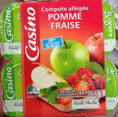 Compote allégée Pomme Fraise