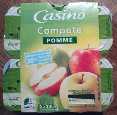 Compote Pomme (Allégée en sucres)