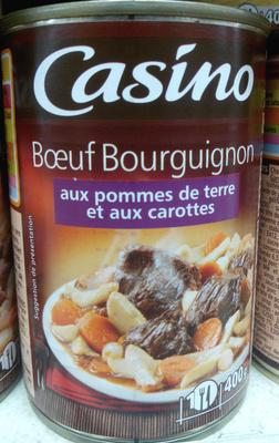 Boeuf Bourguignon aux pommes de terre et aux carottes