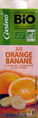 Jus Orange Banane à base de concentré et de purée Bio Casino