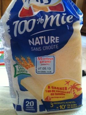 100% mie, nature, sans croûte