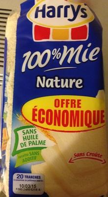 100% mie nature sans croûte
