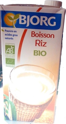 Boisson riz bio
