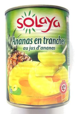 Ananas en tranches au jus d'ananans - Solaya - 10 tranches