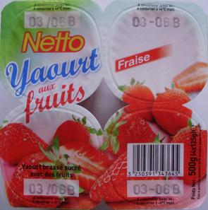 Yaourt aux fruits (Fraise)