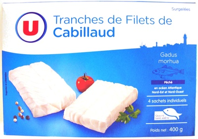 Tranches de Filets de Cabillaud, Surgelées