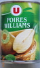 Poires Williams, demi-fruits, sirop léger - Produit