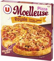 Pizza Moelleuse Royale Fromage - Jambon- Champignon. Surgelée - Produit