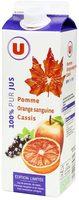 Pur jus de pomme, orange sanguine, cassis pasteurisé réfrigéré - Produit