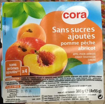 Sans sucres ajoutés Pomme Pêche Abricot
