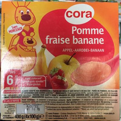 Pomme fraise banane