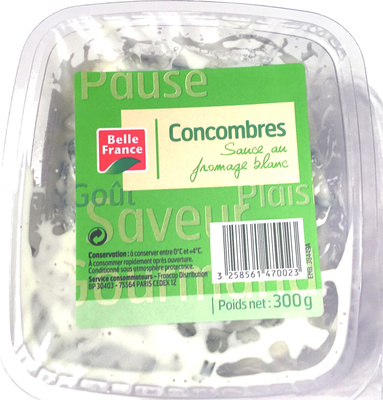 Concombres sauce fromage blanc
