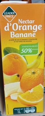 Nectar d'orange banane