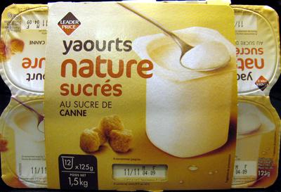 Yaourts nature sucrés Au Sucre de Canne