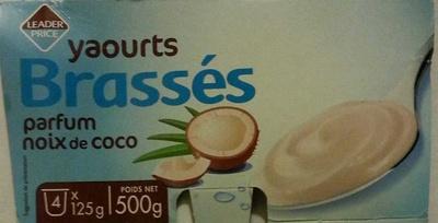 Yaourts Brassés parfum noix de coco