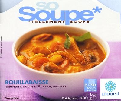 So Soupe bouillabaisse grondin, colin d'Alaska, moules