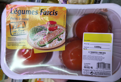 gluten dans Tomates farcies