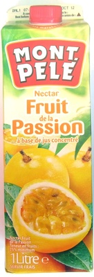Nectar fruits de la passion à base de jus concentré