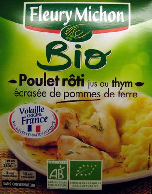 Poulet roti jus au thym écrasée de pommes de terre Bio Fleury Michon