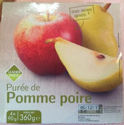 Purée de pomme poire