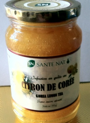 Infusion en gelée au citron de Corée sans sucre ajouté