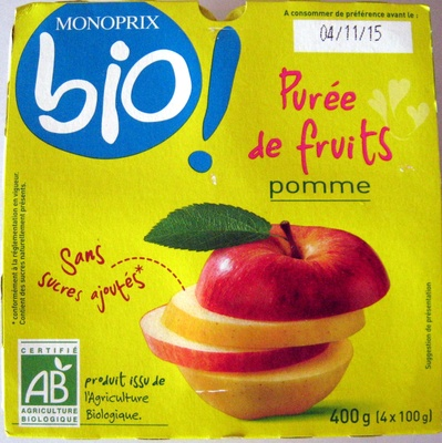 Purèe de fruits Pomme