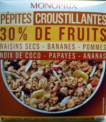 Pépites croustillantes 30% de fruits Monoprix