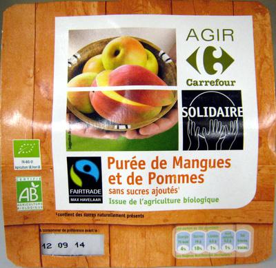 Purée de Mangues et de Pommes Bio Carrefour