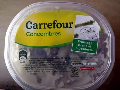 Concombres, Fromage Blanc et ciboulette