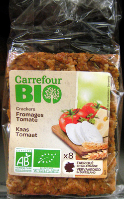 Crackers Fromages Tomate Bio Carrefour - 200 g
