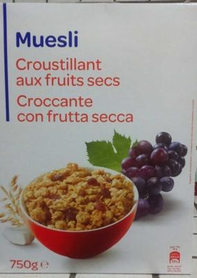 Muesli croustillant aux fruits secs